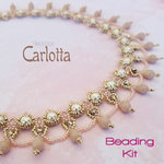 Beading kit - necklace 'Carlotta' - Pink