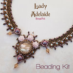 Beading Kit - Necklace 'Lady Adelaide' - Bronze/Pink