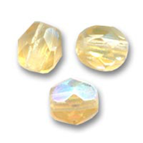 Firepolished 4mm - Light Topaz AB x50