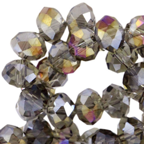 4x3mm Disc - Greige Gold Diamond Coating x50