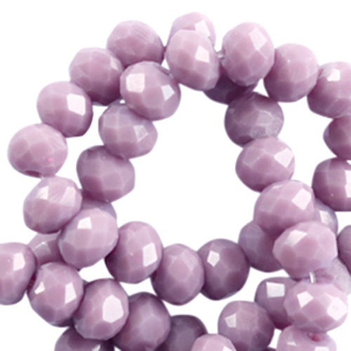 4x3mm Disc - Lavender Purple Grey Opaque x50