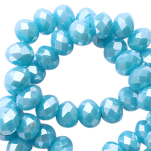 4x3mm Disc - Summer Blue Diamond Coating x50