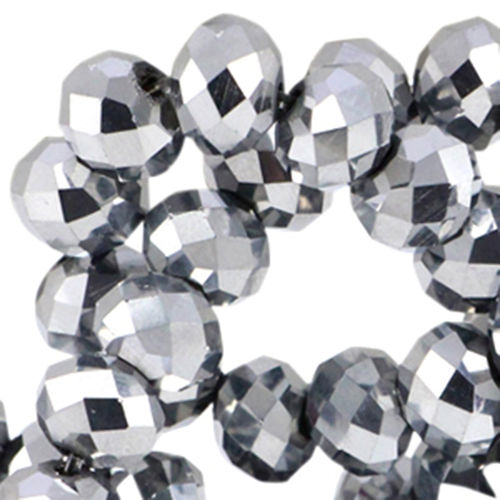 4x3mm Disc - Silver Metallic x50