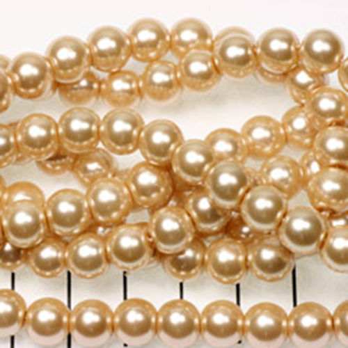 8mm Pearl - Soft Gold x20