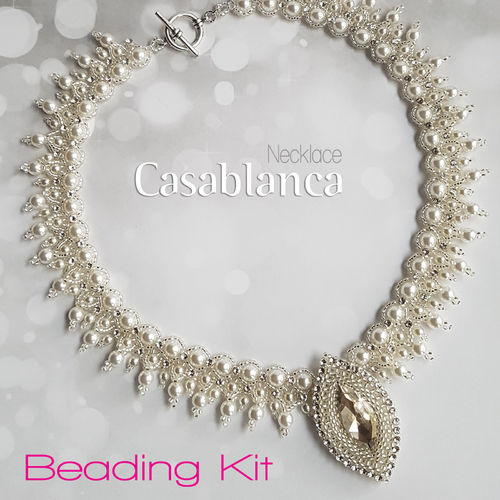 Beading Kit - Necklace 'Casablanca' - White