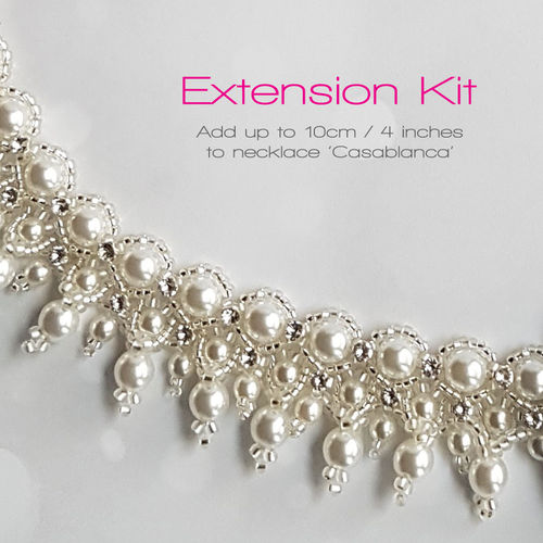 Extension kit 10cm/4in. for necklace 'Casablanca' - White