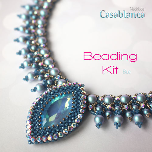 Beading Kit - Necklace 'Casablanca' - Blue