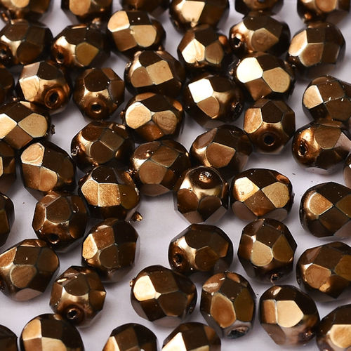 Firepolished 3mm - Heavy Metal Light Bronze  x50