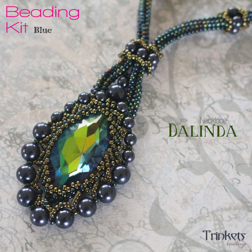 Beading Kit - Necklace 'Dalinda' - Blue