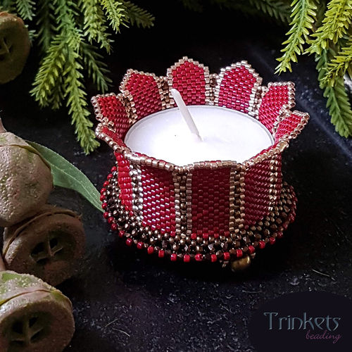 Beading pattern - Candle Holder 'Turrets'