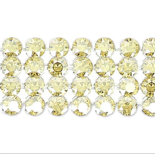 Swarovski Crystal Mesh - Crystal Golden Shadow x52