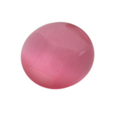 Cabochon Cateye round 15mm - Dark Pink