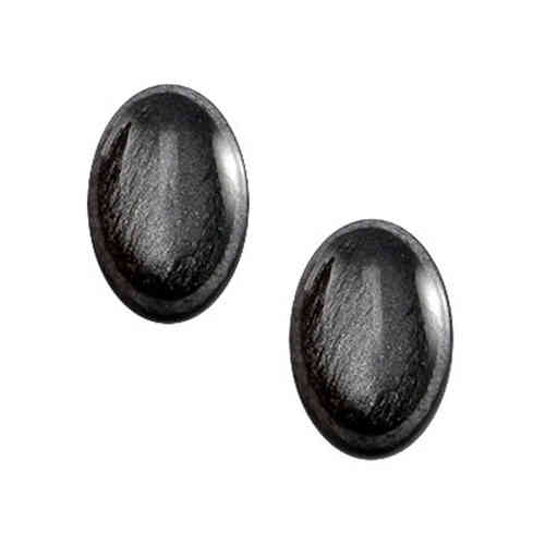 Cabochon Polaris Camar Kilim 13x18mm - Light Hematite Black