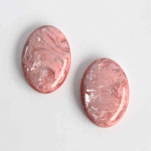 Polaris Cabochon 18x25mm Pearl Shine - Vintage Rose