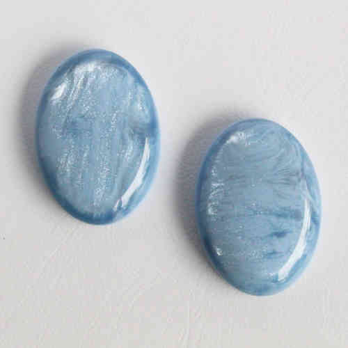 Polaris Cabochon 18x25mm Pearl Shine - Sky Blue