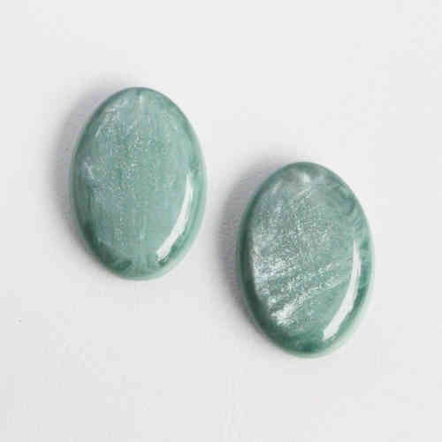 Polaris Cabochon 18x25mm Pearl Shine - Grayed Jade