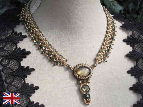Tutorial for necklace 'Lady Sybil' - English