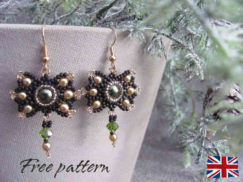 Tutorial for earrings 'Christmas Bow' - English