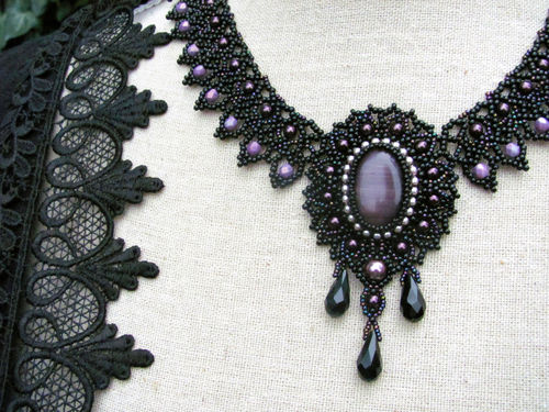 Beading kit for necklace 'Lady Violet'
