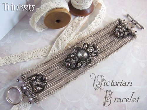 Tutorial for bracelet 'Victorian Bracelet' - English