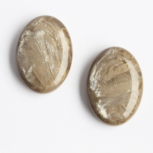 Polaris Cabochon 18x25mm Pearl Shine - Light Taupe