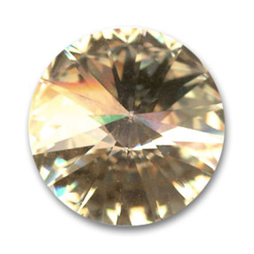 Swarovski Rivoli 14mm - Crystal Golden Shadow
