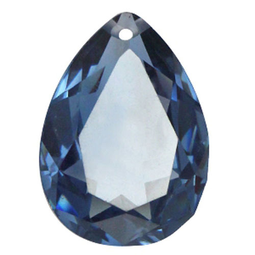 Peardrop pendant 18x25mm Light Montana Blue