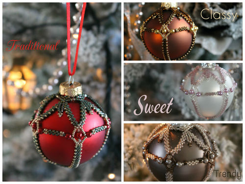 Pattern for Christmas bauble embellishment