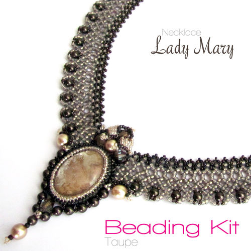 Beading Kit Lady Mary - Taupe