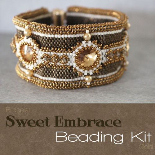 Beading kit bracelet 'Sweet Embrace' - Gold