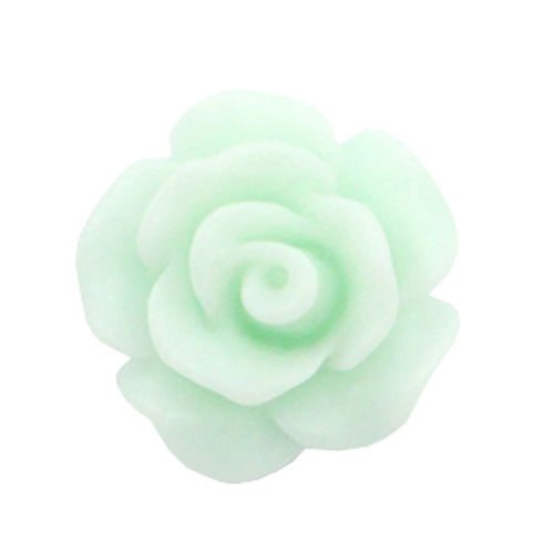 Rose bead 10mm - Matt Light Mint Green x5
