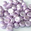 2-hole Cabochon 6mm - Pastel Lt. Rose x20