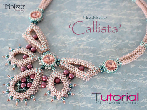 Beading pattern for necklace 'Callista' - English