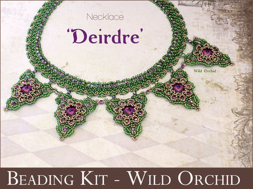 Beading kit for necklace 'Deirdre' - Wild Orchid