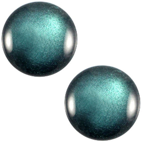 Polaris Soft Cabochon 20mm - Shiny Emerald Green