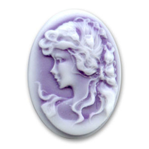 Cameo13x18mm - Purple