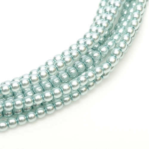 Glass Pearl 3mm - Baby Blue x150