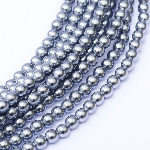 Czech Pearl 3mm - Grey Blue x150