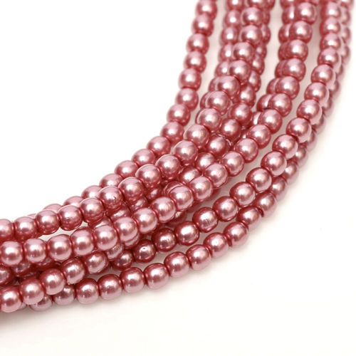 Glass Pearl 3mm - Fandago Pink x150