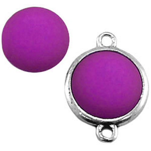 Polaris cabochon Matt 20mm - Amethyst Purple x1