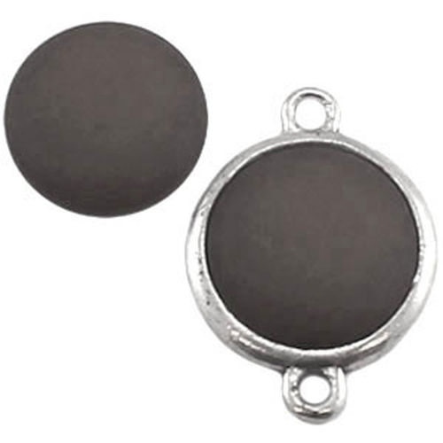 Polaris cabochon Mat 20mm - Smoky Quartz Bruin x1