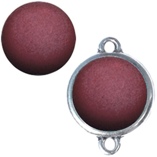 Polaris cabochon Matt 20mm - Aubergine x1
