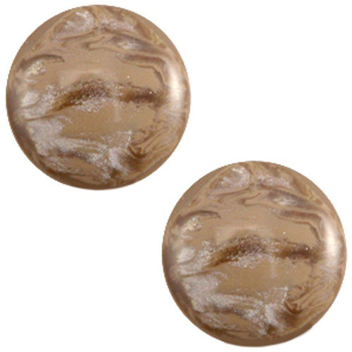 Polaris Jais cabochon 20mm - Wood Smoke Brown x1
