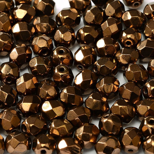 Firepolished 3mm - Jet Bronze x50
