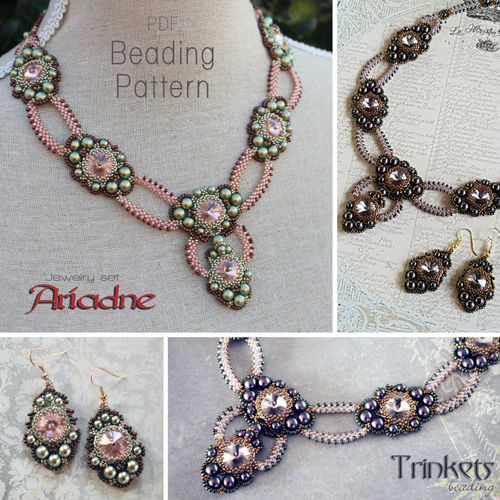 Beading pattern - 'Ariadne' necklace and earrings
