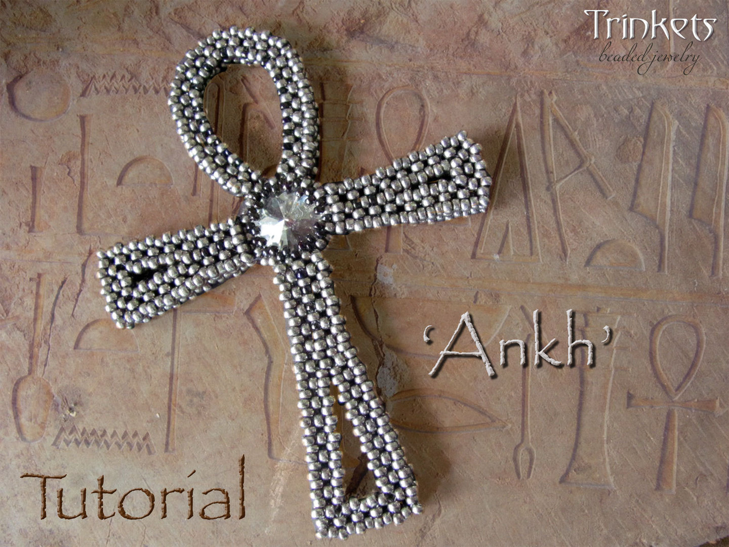 Beading pattern for 'Ankh' - English