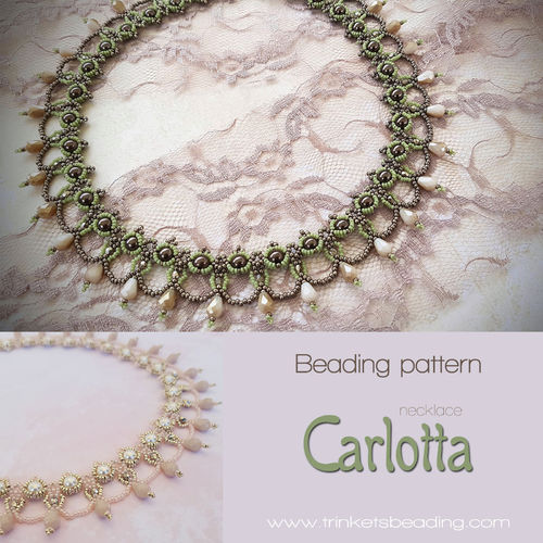 Beading pattern - 'Carlotta' necklace