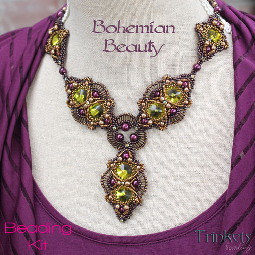 Rijgpakket - Ketting 'Bohemian Beauty' - Vineyard
