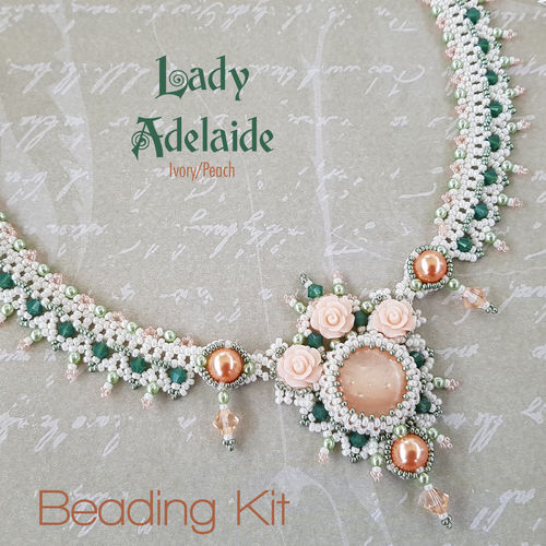Beading Kit - Necklace 'Lady Adelaide' - Ivory/Peach