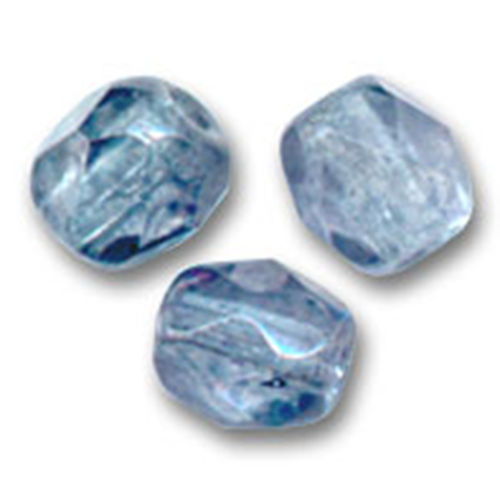 Firepolished 4mm - Luster Transparent Blue x50